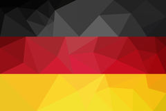Bandiera della Germania - modello poligonale triangolare Fotografie Stock Libere da Diritti