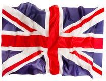 Bandiera della Gran Bretagna di fondo di seta e bianco Immagine Stock Libera da Diritti