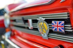 Bandiera della Gran Bretagna, sulla parte anteriore dell'automobile immagini stock