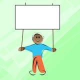 Bandiera della holding del bambino Immagini Stock Libere da Diritti