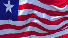 Bandiera della Liberia che ondeggia nel fondo senza cuciture continuo del ciclo del vento illustrazione di stock