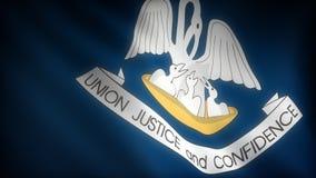 Bandiera della Luisiana royalty illustrazione gratis