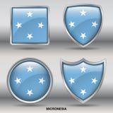 Bandiera della Micronesia in una raccolta di 4 forme con il percorso di ritaglio Fotografia Stock