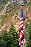 Bandiera della montagna immagine stock