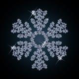 Bandiera della neve del diamante Fotografia Stock Libera da Diritti
