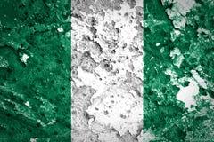 Bandiera della Nigeria Fotografie Stock