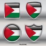 Bandiera della Palestina in una raccolta di 4 forme con il percorso di ritaglio Fotografia Stock