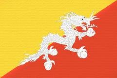 Bandiera della parete del Bhutan Immagini Stock