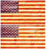 Bandiera della parete dell'annata degli Stati Uniti d'America Fotografie Stock Libere da Diritti