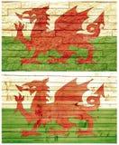Bandiera della parete dell'annata del Galles Fotografia Stock