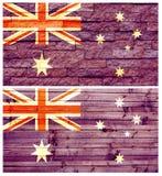 Bandiera della parete dell'annata dell'Australia Immagine Stock