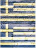 Bandiera della parete dell'annata della Grecia Fotografia Stock