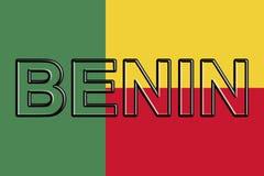 Bandiera della parola del Benin Immagine Stock Libera da Diritti