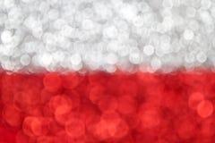 Bandiera della Polonia Fotografie Stock