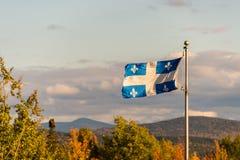 Bandiera della Quebec Fotografia Stock Libera da Diritti