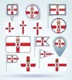 Bandiera della raccolta dell'Irlanda del nord, illustrazione di vettore illustrazione di stock