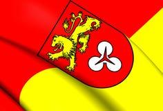 Bandiera della regione di Hannover, Germania Immagini Stock Libere da Diritti