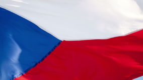 Bandiera della repubblica Ceca stock footage