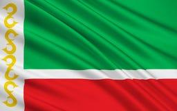 Bandiera della Repubblica Cecena, Federazione Russa Royalty Illustrazione gratis