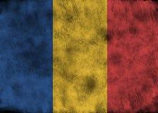 Bandiera della Repubblica del Chad di lerciume Immagine Stock