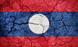 Bandiera della repubblica democratica del ` s di Lao People fotografia stock