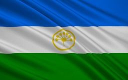 Bandiera della Repubblica di Bashkortostan, Federazione Russa Illustrazione Vettoriale