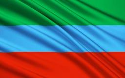 Bandiera della Repubblica di Carelia, Federazione Russa illustrazione di stock