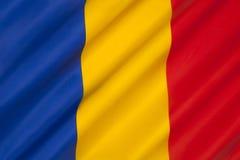 Bandiera della Romania Fotografie Stock