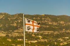 Bandiera della Sardegna Italia immagine stock