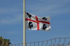 Bandiera della Sardegna, Italia Fotografia Stock Libera da Diritti