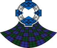 Bandiera della Scozia in anello celtico Immagini Stock Libere da Diritti