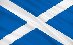 Bandiera della Scozia, Regno Unito della Gran Bretagna royalty illustrazione gratis
