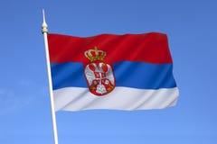 Bandiera della Serbia - Europa Fotografia Stock Libera da Diritti