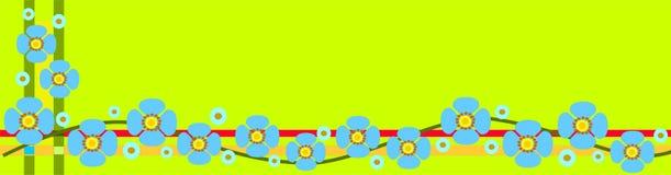 Bandiera della sorgente con i fiori Fotografia Stock