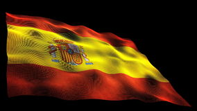 Bandiera della Spagna archivi video