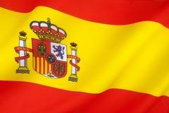Bandiera della Spagna Fotografia Stock Libera da Diritti