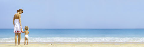 Bandiera della spiaggia Immagini Stock Libere da Diritti