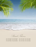 Bandiera della spiaggia Fotografie Stock Libere da Diritti