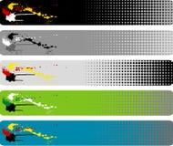 Bandiera della spruzzata Fotografia Stock