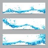 Bandiera della spruzzata dell'acqua Fotografie Stock Libere da Diritti