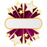 Bandiera della stella di vettore Fotografie Stock