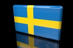 Bandiera della Svezia 3D volumetrica royalty illustrazione gratis