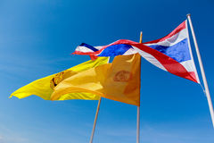Bandiera della Tailandia Immagini Stock Libere da Diritti