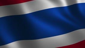 Bandiera della Tailandia che ondeggia 3d sottragga la priorità bassa Animazione del ciclo royalty illustrazione gratis