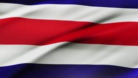 Bandiera della Tailandia che ondeggia nel fondo realistico della bandiera della Tailandia della videoripresa del vento Primo pian illustrazione di stock