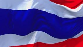 Bandiera della Tailandia che ondeggia nel fondo senza cuciture continuo del ciclo del vento illustrazione vettoriale