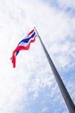 Bandiera della Tailandia verso il cielo Fotografie Stock