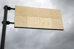 Bandiera della via Fotografie Stock