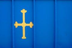 Bandiera delle Asturie, Spagna Fotografia Stock
