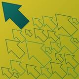 Bandiera delle frecce di progresso Immagine Stock Libera da Diritti